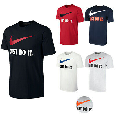 Nike Men's Active Wear Just Do It Swoosh Graphic Athletic Workout Gym T-Shirt Nike Workout Shirts
