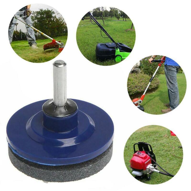 Universal Lawn Mower Faster Blade Sharpener Grinding Power Drill IcMgV QeOOd