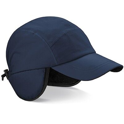 black blue waterproof fleece lined baseball hat cap visor ear flaps woolrich mens
