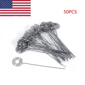 50Pcs DIY Craft Metal Wires Name Photo Card Memo Paper Note Clip Holders US