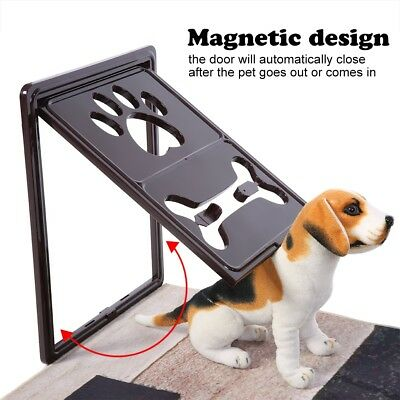 Pet Screen Door Dog Cat Automatic Magnetic Lockable Flap Gate Patio Window BH Automatic Patio Pet Door