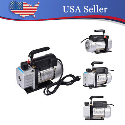 4cfm Vacuum Pump Rotary Vane 12hp Hvac Ac Refrigerant Air Conditioning Us Stock