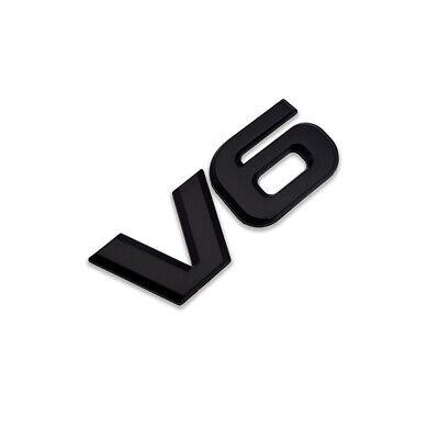 3D Black Metal V6 Logo Emblem V-6 Engine Badge Classic Sticker Sport Turbo Decal