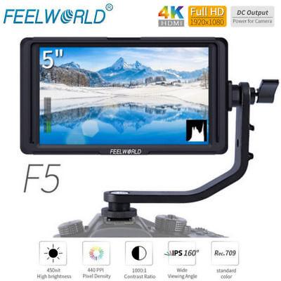 "Feelworld F5 5"" 4K HDMI Full HD 1920x1080 On-camera Video Monitor for DSLR HOT"