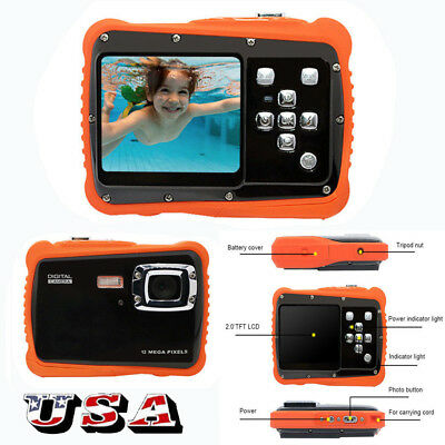 Waterproof Action Digital Video Camera For Kids 12MP HD Children Underwater 3M S (Waterproof Digital Video)