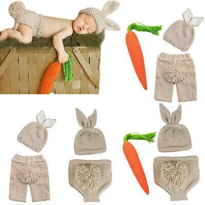 Neugeborenen Baby Fotographie Mütze Kaninchen Kostüm mit Karotte - Kaninchen Baby Kostüme