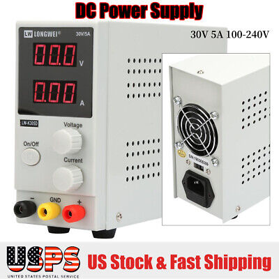 Dc 30v 5a 100-240v Variable Regulated Digital Dc Power Supply With Led Display