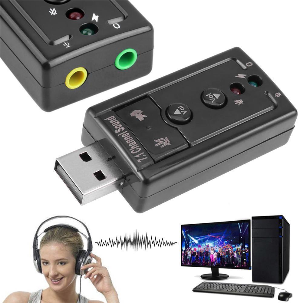 External USB Sound Card 7.1 Channel 3D Audio Adapter Convert