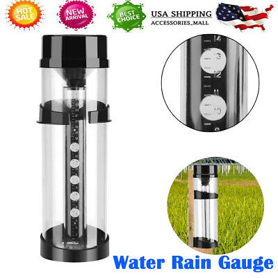 RAIN GAUGE UV Stabilised 250mm Farming Garden Water Weather Outdoor Rainfall NEW Garden Rain Gauge