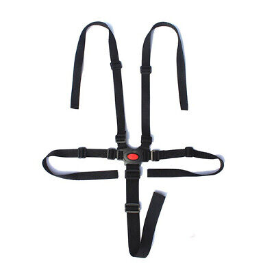 Nylon High Chair - Baby Stroller Harness 5 Point Safe Belt For High Chair Pram Buggy Kid Pushchair