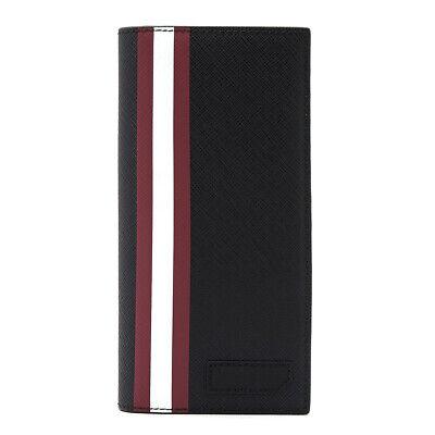 [BALLY]BALIRO OF 36 Black-Red Calf Leather Long Wallet for MEN/Bifold/