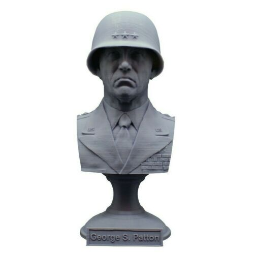 George S. Patton 5.5 inch Famous Army General 3D Printed Bust Art FREE SHIPPING