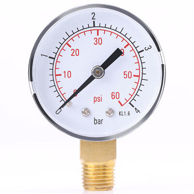14 Npt Pressure Gauge Meter Air Compressor Pressure Manometer 0-4bar0-60psi