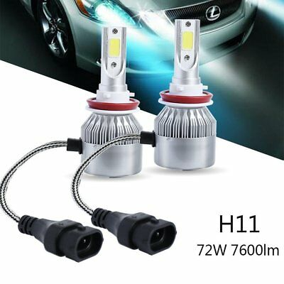 LED Headlight Kit H8 H9 H11 72W 7600LM 6000K Low Beam Fog Bulb HID White comprar usado  Enviando para Brazil