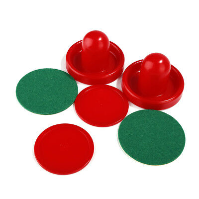 Air Hockey Table Goalies With Puck Felt Pusher Mallet Grip Red Practical GW2