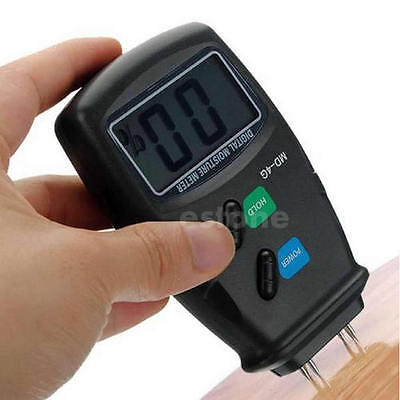 Digital 4 Pin Lcd Wood Moisture Humidity Meter Damp Detector Tester 5 - 40 1pc