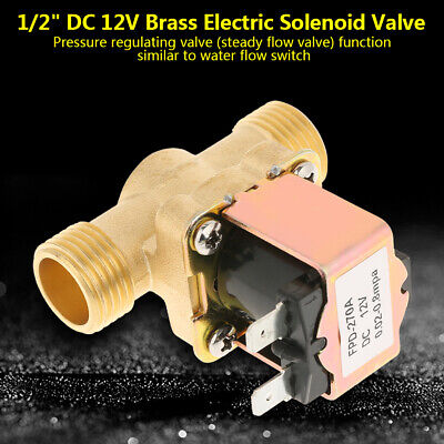 12 Dc 12v Normally Closed Brass Electric Solenoid Valve For Water Control Usa