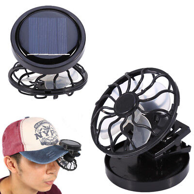 Clip-on Cap Hat Fan For Mini Outdoor Portable Camping Solar Fan Cooling Fishing