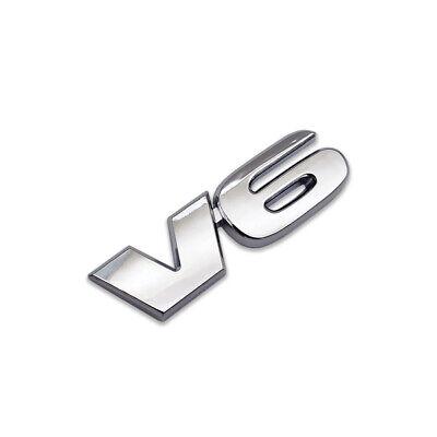 Chrome Metal V6 Logo Emblem Classic V-6 Engine Badge Sport Sticker Turbo Decal