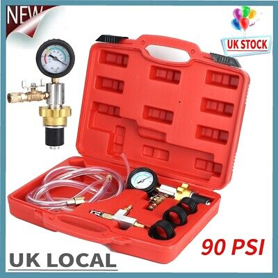 Pro Radiator Cooling System Vacuum Purge Coolant Refill Tool Kit Set 90PSI Box