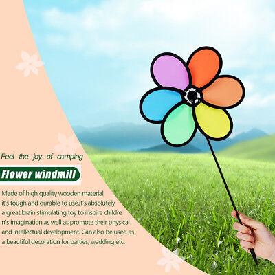 DIY  Multicolor Flower Windmill Pinwheel Whirligig Garden Windmill Plastic - Diy Pinwheels