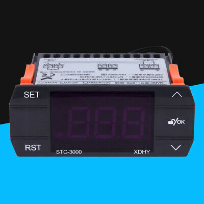 30a Digital Temperature Controller Temp Sensor Thermostat Control 220v