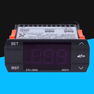 30a Digital Temperature Controller Temp Sensor Thermostat Control 220v
