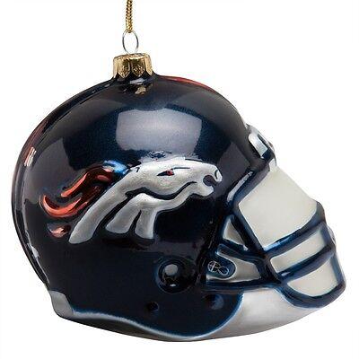 Denver Broncos - Glass Helmet Christmas Ornament - Denver Broncos Halloween