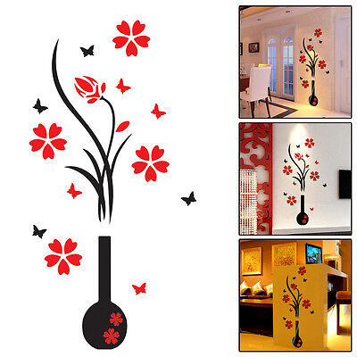 Home Decorating - Kids Rooms Flower Decal Vinyl Decor Art Home Room Removable Mural Wall Stickers DIY Window Tag Wholesale Home Decor
