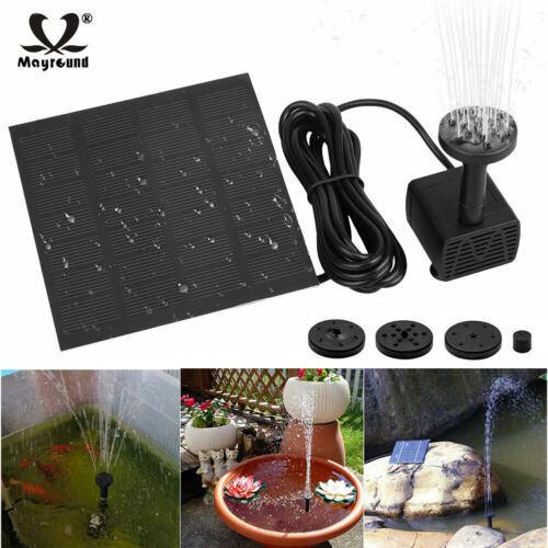 Solar Power Fountain Submersible Water Pump With Filter Panel Pond Pool 180L/h Alternative Energy Supplies
