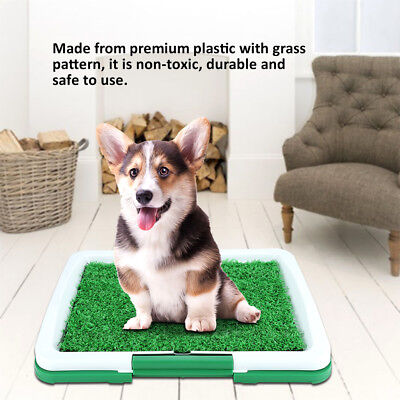 Durable Puppy Pet Potty Training Pee Indoor Toilet Dog Grass Pad Mat Large Turf