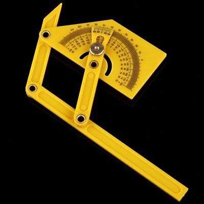 New 6 Angle Finder Protractor Goniometer Miter Gauge Plastic Brass Fittings