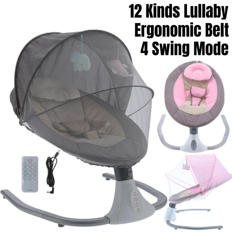 Baby Infant Newborn Bassinet Sleeper Bed Cradle Basket Smoth Swing Crib RC