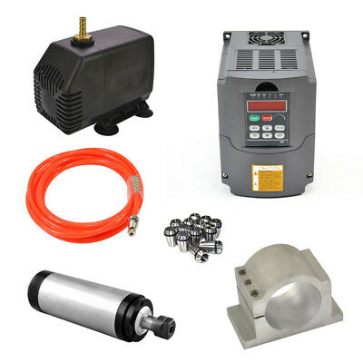 Er20 2.2kw 110v Water Cooled Spindle Motor 2.2kw Drive Inverter Vfd80mm Clamp