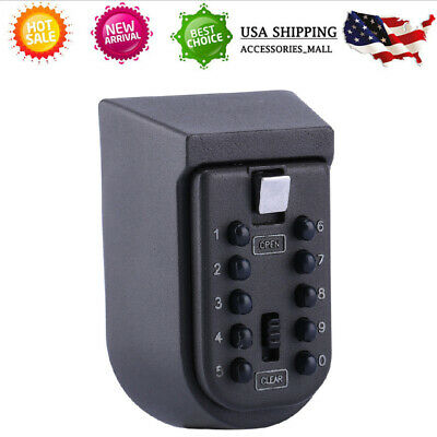 10 Digits Combination Key Safe Lock Box Storage Wall Mount Security Cabinet Case