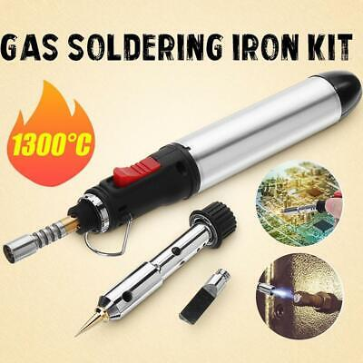 4in1 Gas Soldering Iron Set Butane Cordless Welding Tool Kit HT-1934-3 BEST