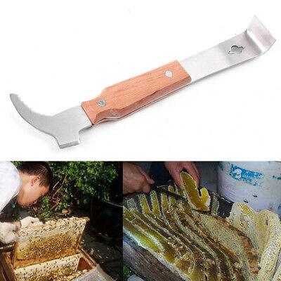 Wooden Handle Bee Hive Hook Scraper Stainless Steel Beekeeping Tool Equipment