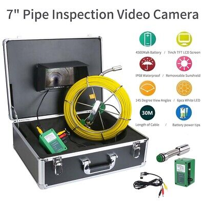 30M Sewer Waterproof Camera Pipe Drain Inspection System 7