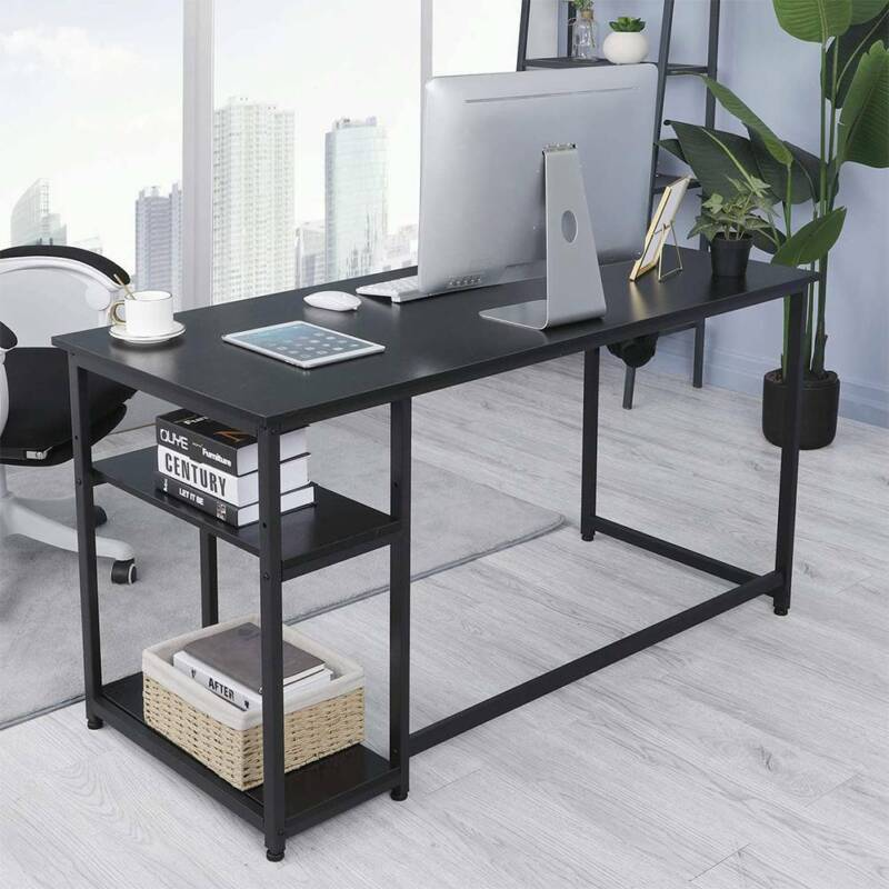 Computer Desk Home Office Desk PC Laptop Study Workstation Table w/ Shelf Black.