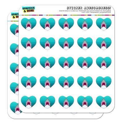 Geometric Shark Blue Heart Shaped Planner Calendar Scrapbook Craft - Shark Craft
