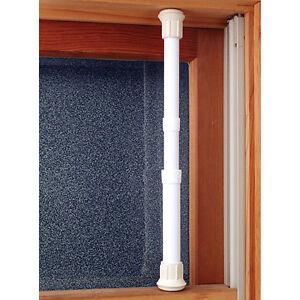 NEW Window Security Bar Locks Onto Frame - Sturdy Steel adjusts 17 - 29 inches