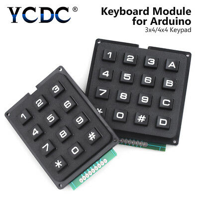 Keyboard Module Matrix Array Momentary Key Switch Keypad For Arduino 4x4 3x4