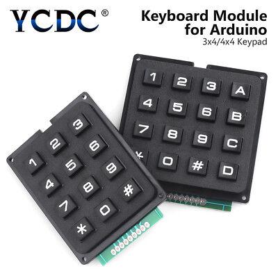 Keyboard Module Matrix Array Momentary Key Switch Keypad For Arduino 4x4 3x4