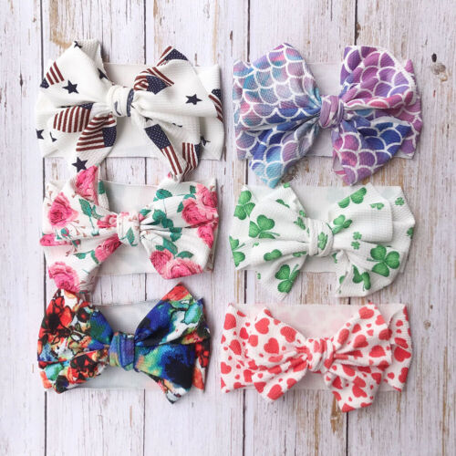 Baby Kids Girl Flower Headband Big Bow Headband Hair Band For Baby Girl Headwrap