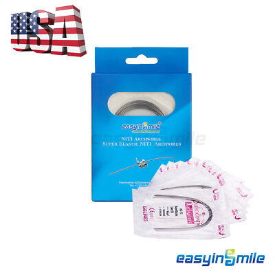 Easyinsmile 200pcs Arch Wires Dental Orthodontic Niti Braces Teeth Wire Round