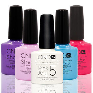 CHOOSE-5-Nail-Polish-CND-Shellac-UV-Gel-0-25-Ounces-Manicure-Soak-Off-Color-Coat
