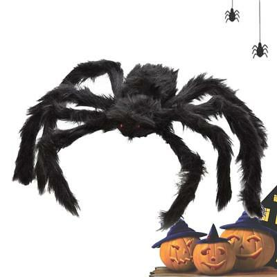 schwarze riesenspinne halloween -dekoration spukhaus indoor outdoor spielzeug - Indoor Halloween Dekorationen