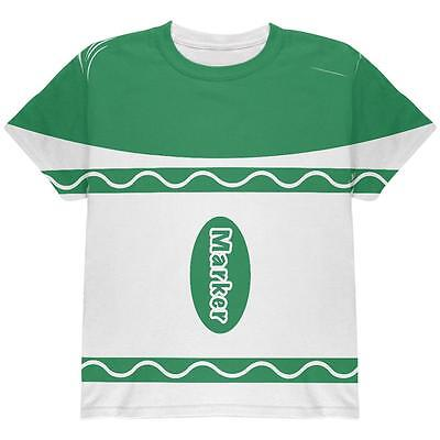 Halloween Marker Costume Green All Over Youth T Shirt](All Green Halloween Costume)