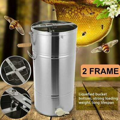 Pro 2 Frame Stainless Steel Honey Extractor Beekeeping Equipment Honeycomb Drum