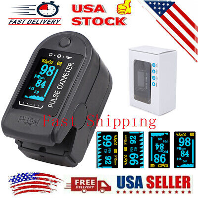 Fingertip Pulse Oximeter Blood Oxygen Saturation Spo2 Pr Heart Rate Meter Fda Ce